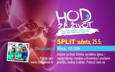 Iz Hoda za život u Splitu poručuju: 'Hodamo za one kojima je oduzeto pravo na život!'